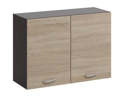 Верхний кухонный шкаф WIPMEB Livia LV-06/G80 Sonoma Oak, 800x285x575 мм