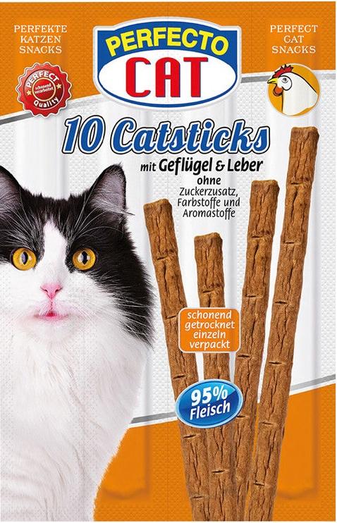 Perfecto Cat Snack Sticks Poultry & Liver 10pcs