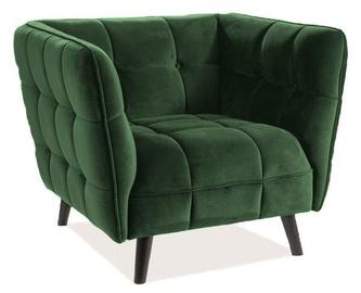 Tugitool Signal Meble Castello Bluvel 78 Velvet Green, 92x85x78 cm