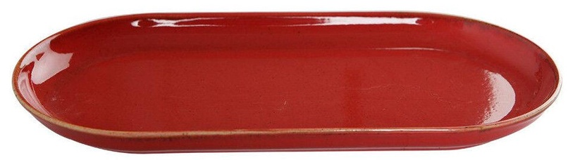 Porland Seasons Oval Serving Plate 14.6x29.6cm Red