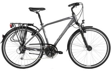 "Jalgratas Kross Trans 5.0 M 28"" Graphite Silver Glossy 18"