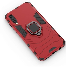 Hurtel Ring Armor Back Case For Samsung Galaxy A50 Red