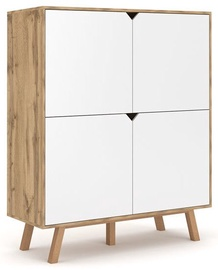Vivaldi Meble Tokio TK3 Chest Of Drawers Gold Craft Oak/White Mat