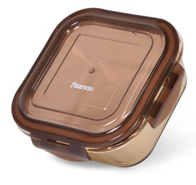 Fissman Container With Lid 15x15x6cm 800ml Brown