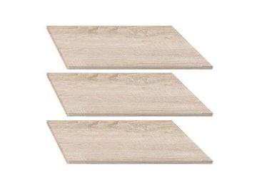 Black Red White Nepo 3D2S Shelves 3pcs Sonoma Oak