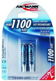 Ansmann Micro NiMH rechargeable battery AAA 1100mAh x 2