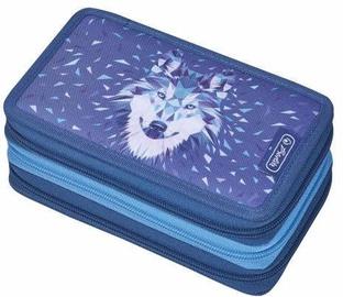Herlitz 3 Side Pencil Case Wolf Blue