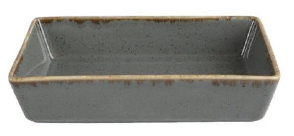 Porland Seasons Serving Plate With Edges 13.73x8.54cm Dark Grey