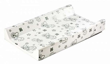 Britton Hard Base Changing Mat Silver Butterfly