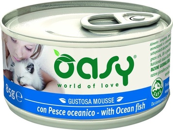 Oasy Adult Cat Wet Mousse w/ Ocean Fish 85g