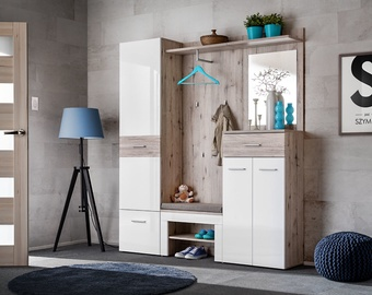 ASM Gustavo III Wardrobe Wellington Oak/Gloss White