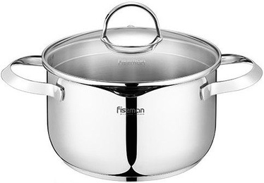 Fissman Callisto Stainless Steel Pot 20x11.5cm With Glass Lid 3.4L 5207