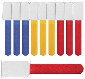 Label The Cable Mini Velcro Tie Set Of 10 Color Mix