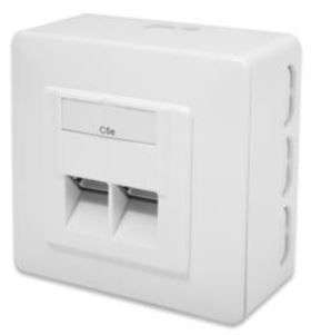 Digitus Modular Wall Outlet Cat 6 RJ45 x 2 White