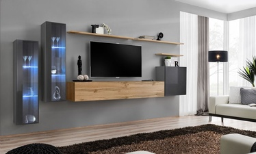 ASM Switch XI Wall Unit Graphite/Wotan Oak