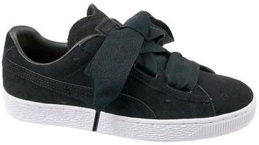 Puma Suede Heart Kids Shoes 365135-02 Black 38.5