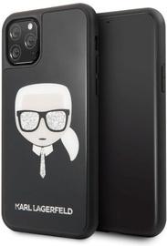 Karl Lagerfeld Iconic Glitter Karl's Head Back Case For Apple iPhone 11 Pro Black
