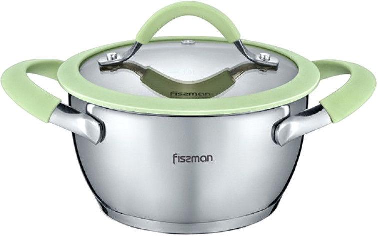 Fissman Viva Stainless Steel Pot 16x8.5cm With Glass Lid 12L 5431