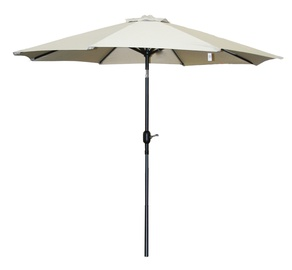 BESK Garden Parasol w/ LED Lights Grey