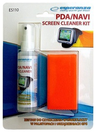 Esperanza Cleaning Liquid For PDA/NAVI Screen + Microfibre Cloth