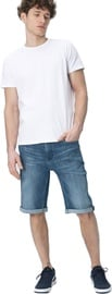 Audimas Regular Fit Stretch Denim Shorts Denim 36