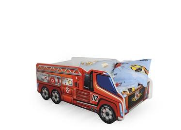 Lastevoodi Halmar Fire Truck Multicolored, 148x74 cm
