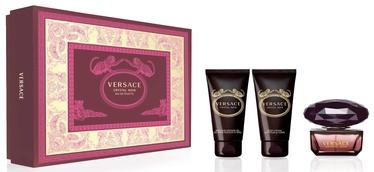 Женский парфюмерный набор Versace Crystal Noir 50 ml EDT + 50 ml Shower Gel + 50 ml Body Lotion 2019