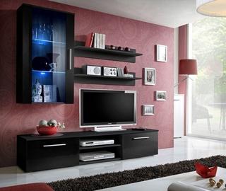ASM Galino E Wall Unit Black/Black Gloss