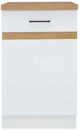 Нижний кухонный шкаф Black Red White Junona Line D1D/50/82L White/Sonoma Oak, 500x470x820 мм