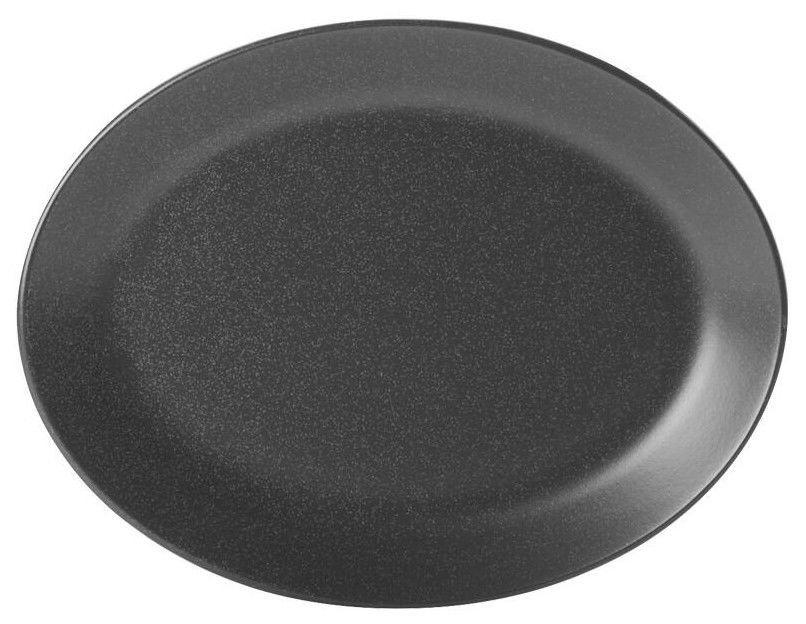 Porland Seasons Oval Plate 24.3x18.55cm Black