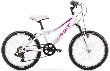 """Romet Jolene Kid 2 10"""" 20"""" White Pink 20"""
