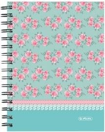 Herlitz Spiral Hardback Notebook A5 Ladylike Roses 11366705