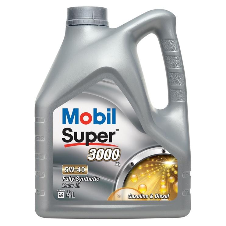 Mootoriõli Mobil Super 3000 5W-40 sünteetiline 4L
