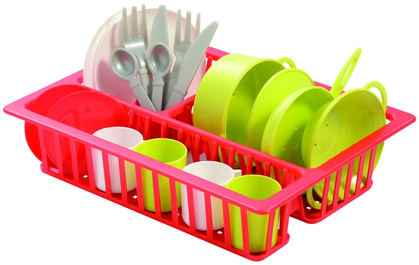Ecoiffier Dish Rack With Dishes 8/606S