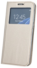 Blun Premium Matt Smart S-View Book Case For Xiaomi Redmi Note 5 AI Dual Camera Gold
