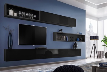 ASM Blox X Living Room Wall Unit Set Black