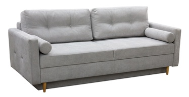 Diivanvoodi Idzczak Meble Pastella Light Grey, 216 x 100 x 74 cm