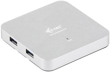 I-Tec USB 3.0 4 Port Metal Hub with Network Adapter