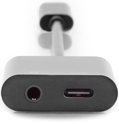 DIGITUS USB Type-C To Type-C + 3.5mm Stereo Adapter