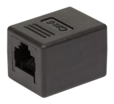 LogiLink Modular Coupler CAT 6 RJ45 x2 Black