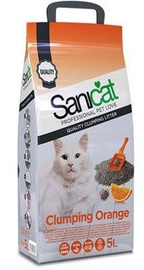 Sanicat Orange Clumping Litter 5l