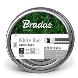 """Bradas White Line Garden Hose 3/4"""" 50m Grey"""