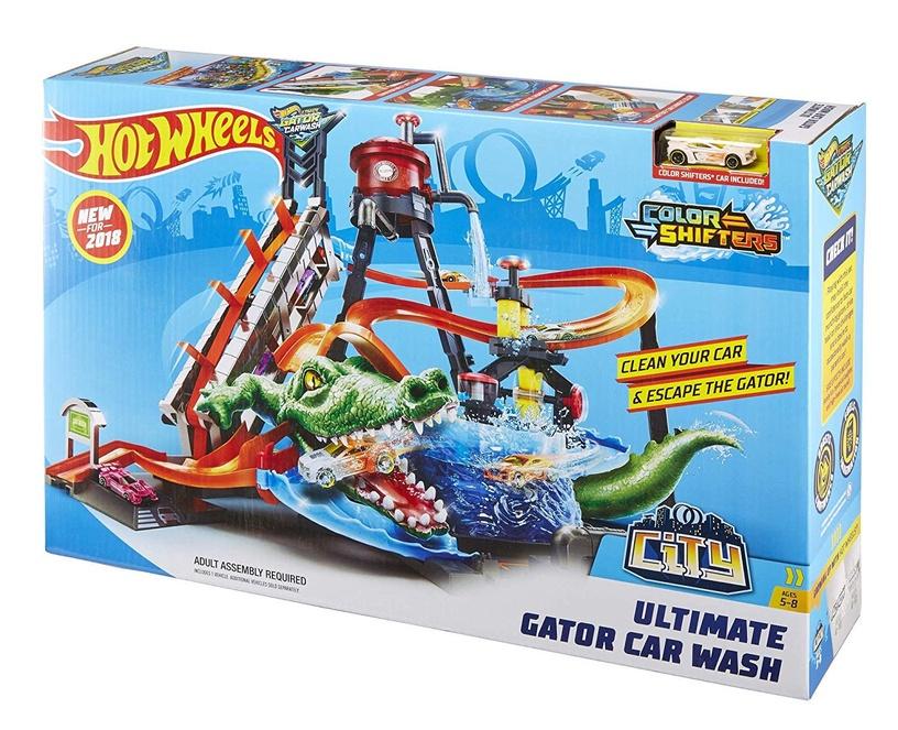 Mattel Hot Wheels City Ultimate Gator Car Wash Play Set FTB67