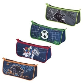 Herlitz Pencil Pouch Triangular Boys Mix 4 Designs