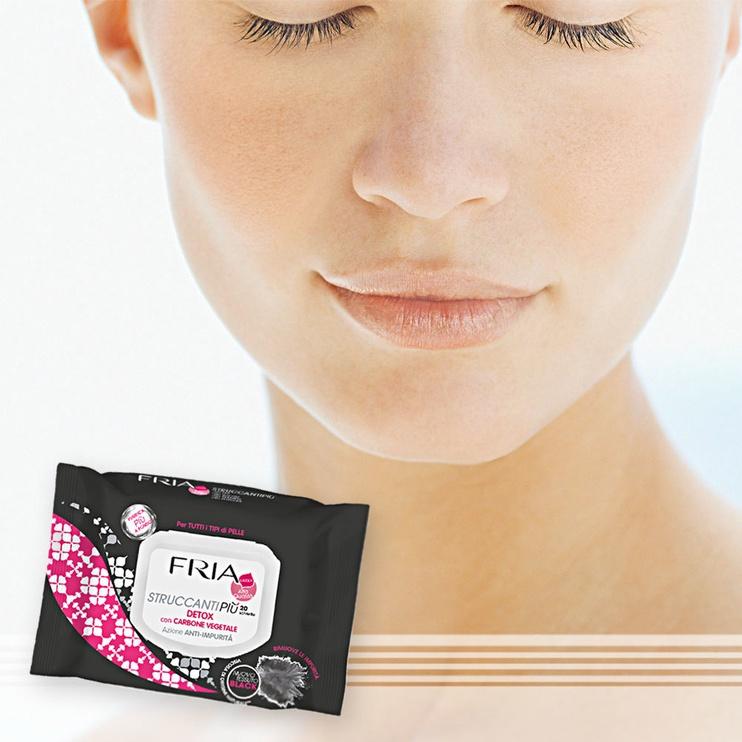 Fria Detox Make Up Remover Wet Wipes 20pcs