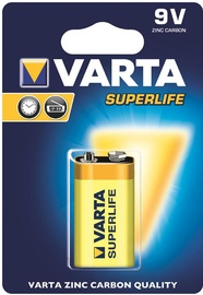 Varta Superlife Hi-Voltage Zinc Carbon Battery 9V