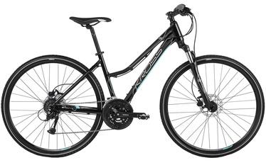 "Jalgratas Kross Evado 5.0 Lady L 28"" Black Turquoise Glossy 18"