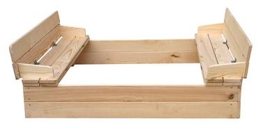 Liivakast pinkidega ja kaanega, 118 x 118 x 20 cm
