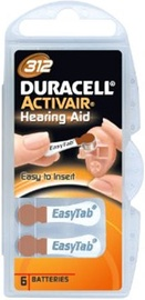 Duracell Activeair DA312 Hearing Aid Battery 6x