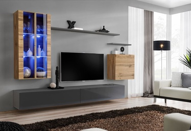 ASM Switch XII Wall Unit Graphite/Wotan Oak